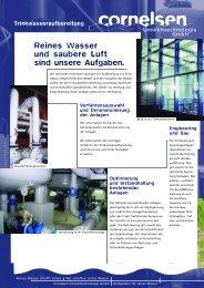 Trinkwasser - Cornelsen Umwelttechnologie Gmbh