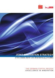Joint innovation Strategy of the States Berlin and Brandenburg