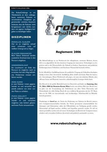 Reglement 2006 www.robotchallenge.at - InnoC