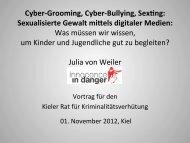 Sexualisierte Gewalt mi els digitaler Medien - Innocence in danger