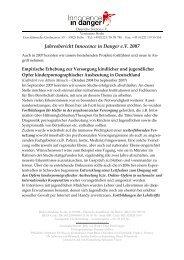 PDF 260 KB - Innocence in danger