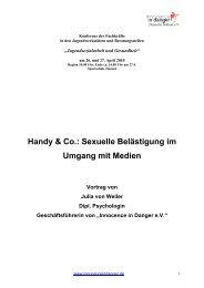 Hennef 27.04 - Innocence in danger