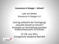 Sexuelle Gewalt an Schulen - Innocence in danger