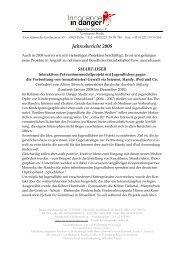 Jahresbericht 2008 - Innocence in danger