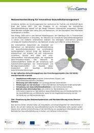 Netzwerkentwicklung für innovatives ... - InnoGema