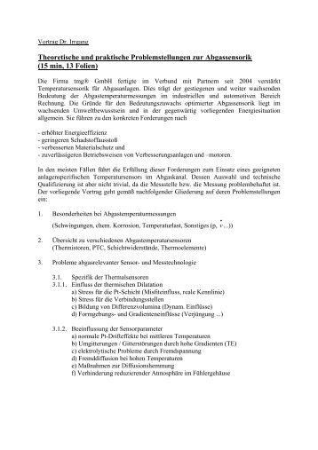 Theoretische und praktische Problemstellungen ... - INNOMAN GmbH
