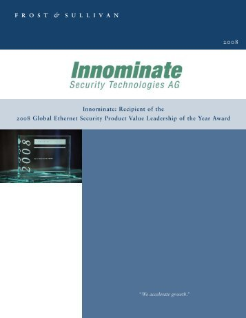 Award document (PDF 199 KB) - Innominate Security Technologies ...