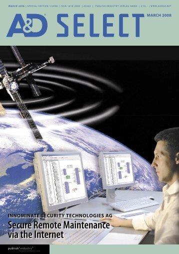 Secure Remote Maintenance via the Internet - Innominate Security ...