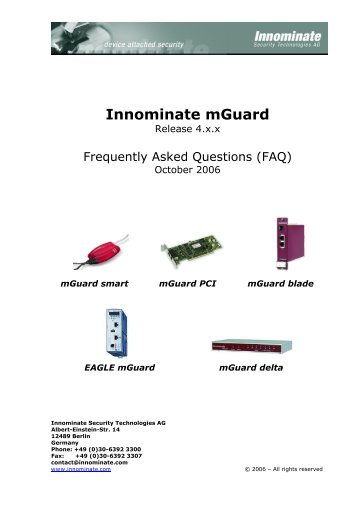 Innominate mGuard - Innominate Security Technologies AG