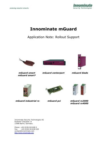 Innominate mGuard Rollout Support - Innominate Security ...