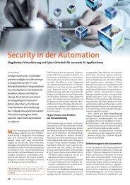 Security in der Automation - Eingebettete Virtualisierung und Cyber ...