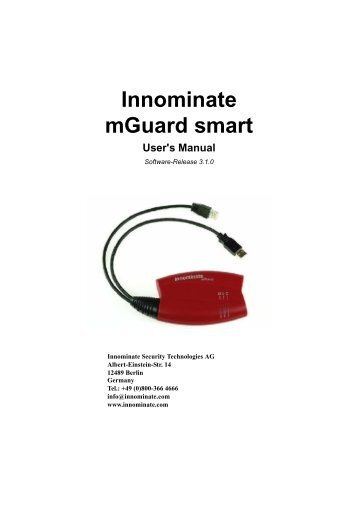 Innominate mGuard smart - Innominate Security Technologies AG