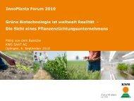 Grüne Biotechnologie ist weltweit Realität - Die Sicht eines ...