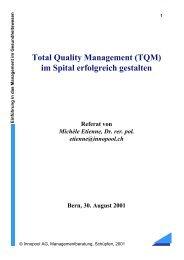 Total Quality Management (TQM) im Spital erfolgreich ... - Innopool AG