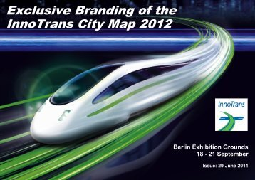 Exclusive Branding of the InnoTrans City Map 2012