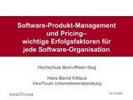 Software-Produkt-Management und Pricing– wichtige ... - InnoTivum