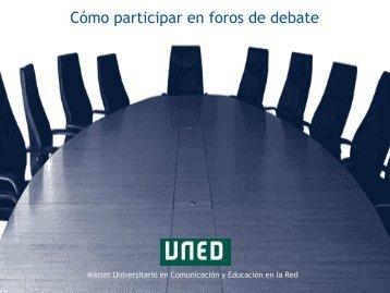 Cómo participar en foros de debate - Innova