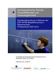 Demographischer Wandel, Fachkräftebedarf und Chancengleichheit