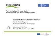 Präsentation Prof. Dr. Rainer Przywara - InnovAging