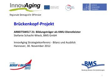 Präsentation Stefanie Schacht-Wieck - InnovAging