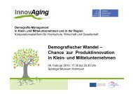 Demografischer Wandel - InnovAging - Leibniz Universität Hannover