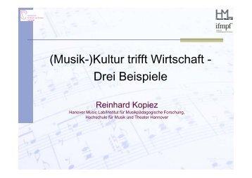 Präsentation Prof. Dr. R. Kopiez - InnovAging