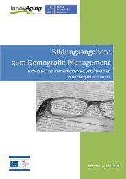Bildungsangebote Zum Demografie-Management - InnovAging ...