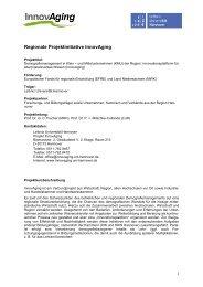 Regionale Projektinitiative InnovAging - InnovAging - Leibniz ...