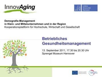 Präsentation Dr. med. Uwe Gerecke - InnovAging