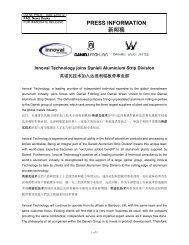 PRESS INFORMATION - Innoval Technology Ltd
