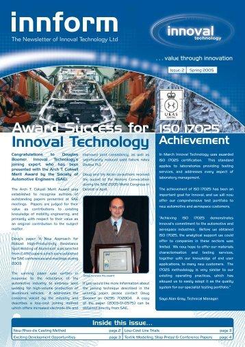 Innoval newsletter April 05.indd - Innoval Technology Ltd
