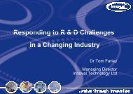 Responding to the R&D Challenges in a Changing Industry - Innoval ...