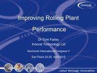 Improving Rolling Plant Performance - Innoval Technology Ltd
