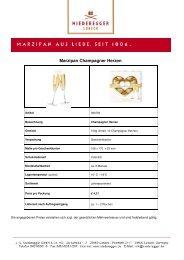 Marzipan Champagner Herzen - INNovation Styles