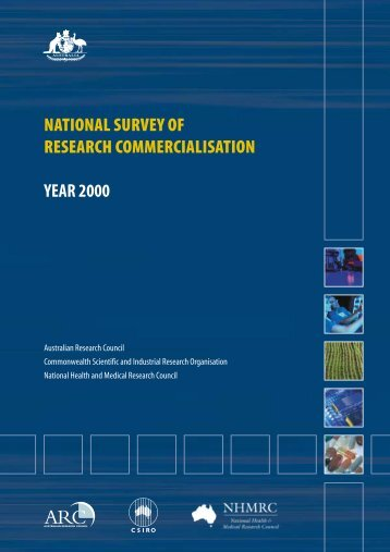 National Survey of Research Commercialisation - Australian ...