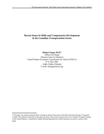 Recent issues in Skills and Competencies Development