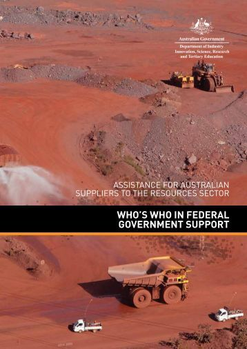 who's who in federal government support - Department of Innovation ...