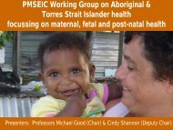 PMSEIC Working Group on Aboriginal & Torres Strait Islander health ...