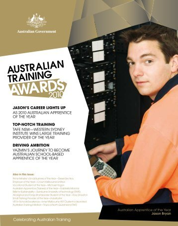 Australian Training Awards Magazine 2010 - Department of ...