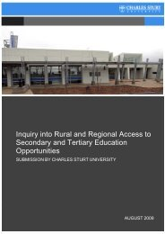 Submission to the Senate Inquiry into Rural and Regional access to ...