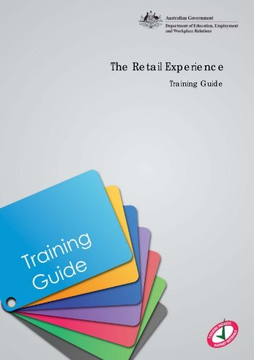 The Retail Experience: Training Guide - Department of Innovation ...