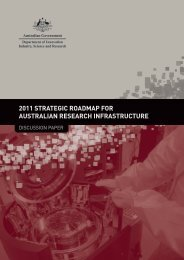 2011 Strategic Roadmap for Australian Research Infrastructure