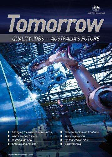 quality JOBs — australia's Future - Department of Innovation ...