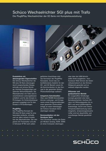 Schüco Wechselrichter SGI plus mit Trafo - Die Lichtschmiede