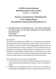 3. ÖPNV Innovationskongress Mobilitätskonzepte für Bus und Bahn ...