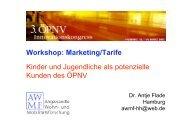 Workshop: Marketing/Tarife Kinder und Jugendliche als potenzielle ...