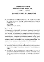 Bericht aus dem Workshop 4: Marketing/Tarife - ÖPNV ...