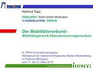 Prof. Dr. Hartmut Topp - ÖPNV Innovationskongress