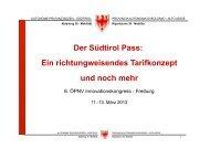 Der Südtirol Pass - ÖPNV Innovationskongress