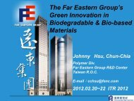 The Far Eastern Group's Green Innovation In Biodegradable